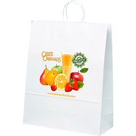 White Kraft Stephanie Tote Bag (Full Color)