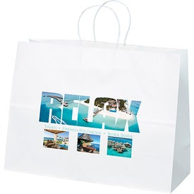 White Kraft Vogue Tote Bag (Full Color)