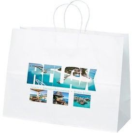 White Kraft Vogue Tote Bag (Full Color)