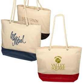 Zing Cotton and Jute Tote Bag