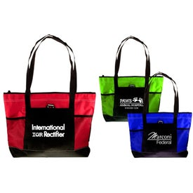 Company Zip Top Pocket Mesh Tote
