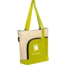 Zipper Polyester Tote Bag