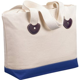 Logo Zippered Boat Tote Bag