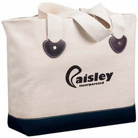 Personalized Zippered Boat Tote Bag