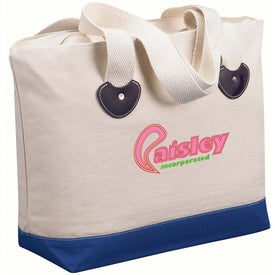 Zippered Boat Tote Bag for Promotion