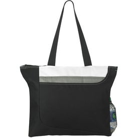 Zippered Convention Tote Bag Printed with Your Logo