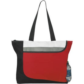 Printed Zippered Convention Tote Bag