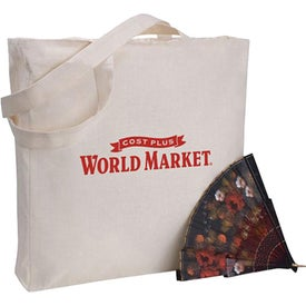 Zippered Gusseted Economy Tote Bag
