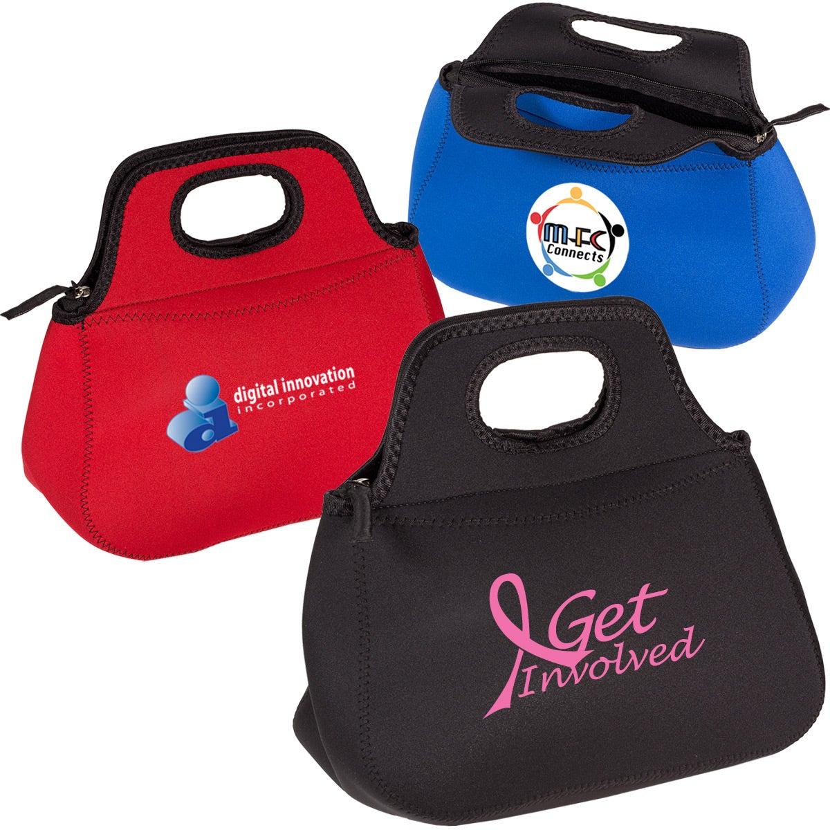 Zippered Neoprene Lunch Tote Bag