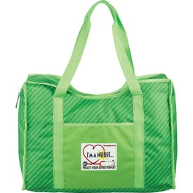 Zippered Organizer Tote Bag