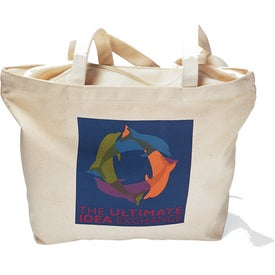 Cotton Zippered Tote Bag