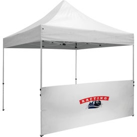 "Deluxe Tent Half Wall Kits (9.875 Ft. x 38"" x 2.12"", 1 Location, Black and White)"