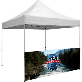 "Deluxe Tent Half Wall Kits (9.875 Ft. x 38"" x 2.12"", 1 Location, Full Color Imprint)"