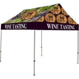 Premium Gable Tent Kits (9.8333 Ft. x 10.9792 Ft. x 9.8333 Ft., 1 Location, Full Color Imprint)