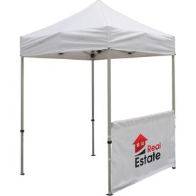 "Tent Half Walls (69.25"" x 38"", 1 Location, Black and White)"