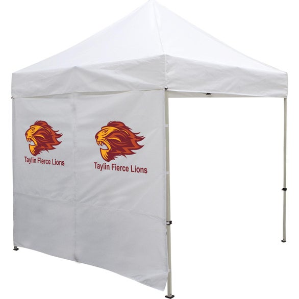 White Tent Wall with Middle Zipper