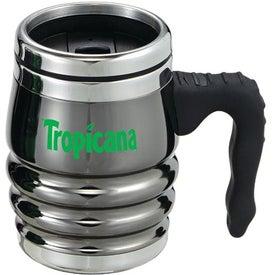Black Chrome Tri-Roll Desk Mug Printed with Your Logo