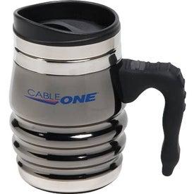 Logo Black Chrome Tri-Roll Desk Mug