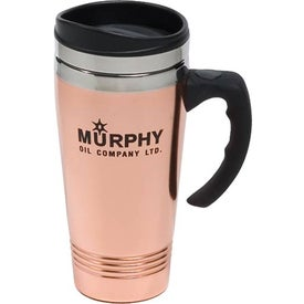 Branded Copper/Stainless Travel Mug