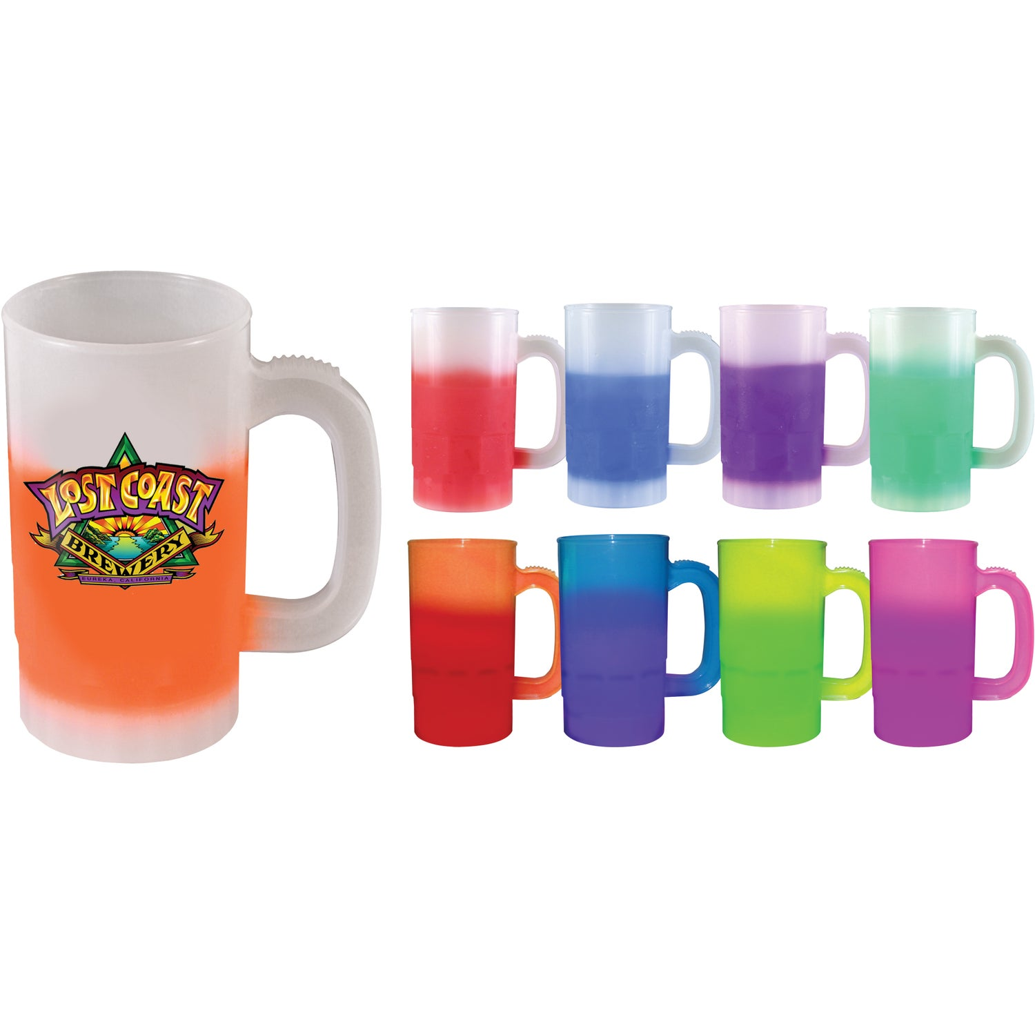 promotional 14 oz one side mood beer steins with custom logo for