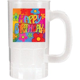 Nite Glow Beer Stein (14 Oz, Dig. Print, One Side)