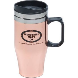 Customizable Copper/Stainless Travel Mug Printed with Your Logo