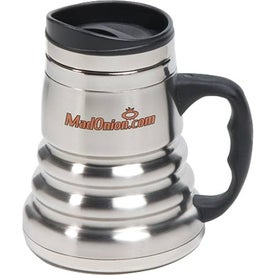 Stainless Steel Tri-Roll Desk Mug with Your Logo