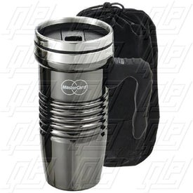 Black Chrome Retro Travel Mug (16 Oz.)