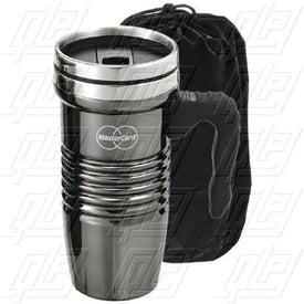 Black Chrome Retro Travel Mug