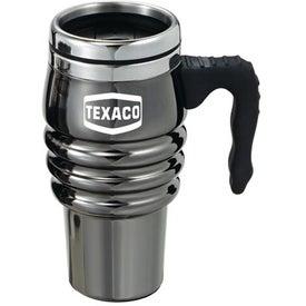 Personalized Black Chrome Tri-Roll Travel Mug