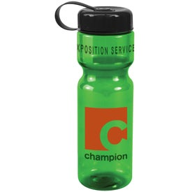 Translucent Bottle with Tethered Lid for Your Company