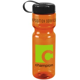 Monogrammed Translucent Bottle with Tethered Lid