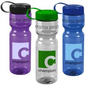 Translucent Bottle with Tethered Lid (28 Oz.)