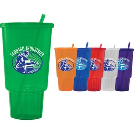 Jewel CarCup with Lid and Straw (32 Oz.)