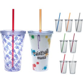 Double Wall Acrylic Tumbler With Insert (16 Oz.)