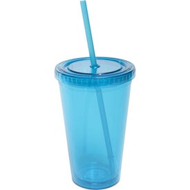 Promotional All Pro Acrylic Cup with Straw