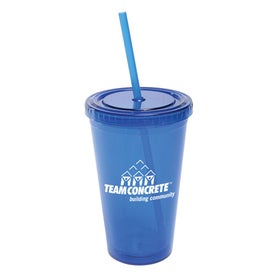 All Pro Acrylic Cup with Straw (16 Oz.)
