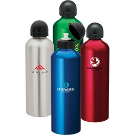 Aluminum Sport Flask II Dome Sports Top (1 Liter)
