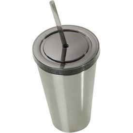 Branded Alumni Steel Varsity Tumbler with Straw