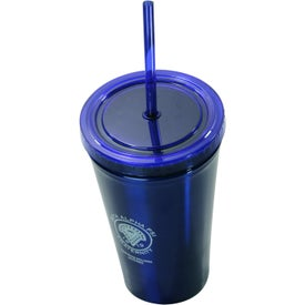 Alumni Steel Varsity Tumbler with Straw for Advertising