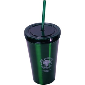 Alumni Steel Varsity Tumbler with Straw with Your Slogan