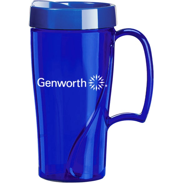 Translucent Blue Arrondi Travel Mug