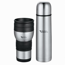 Auto Perf Tumbler and Flask Gift Set