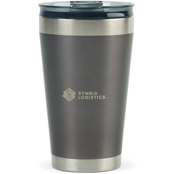 Charcoal Satin / Silver Aviana Solara Double Wall Stainless Tumbler