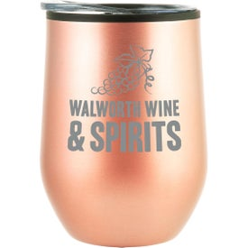 Bay Mist Wine Tumblers with Lid (12 Oz.)