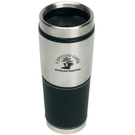 Black Leather Traveler Tumbler
