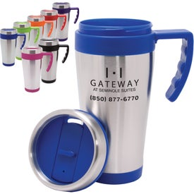 Branded Blue Bullet Stainless Steel Mug