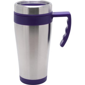 Blue Bullet Stainless Steel Mug Printed with Your Logo
