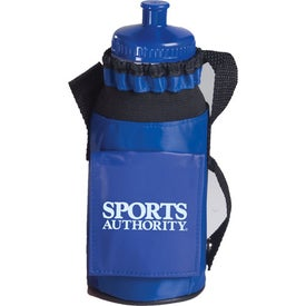 Bottle Caddie with Bottle with Your Slogan