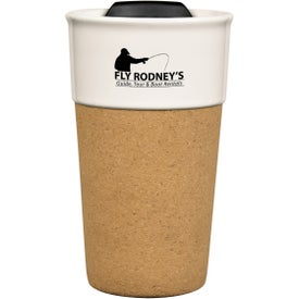 Brea Cork Ceramic Travel Mugs (13 Oz.)